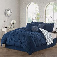 Avondale Ella Pinch Pleat 5 pc Reversible Duvet Cover Set