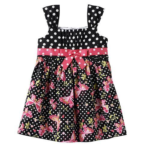 fe0a4c636b1 Bonnie Jean Polka Dot Butterfly Dress - Baby Girl