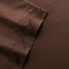 Fleur-de-Scroll Embroidery Microfiber Sheets