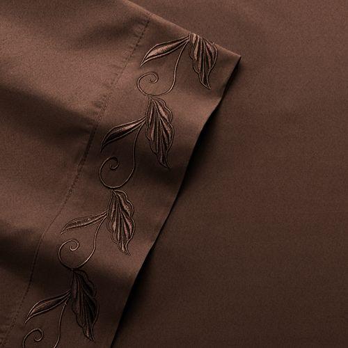 Fleur-de-Scroll Embroidery Microfiber Sheets