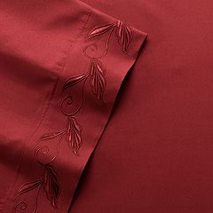 Leaf Embroidery Microfiber Sheets