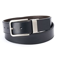 Men's Apt. 9® Cut-Edge Stitched Reversible Belt