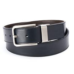 Men's Apt. 9® Cut-Edge Stitched Reversible Belt