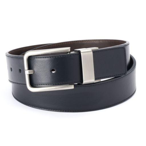 Men's Apt. 9 Cut-Edge Stitched Reversible Belt