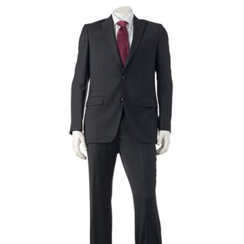 Men's Marc Anthony Slim-Fit Wool-Blend Black Suit Coat