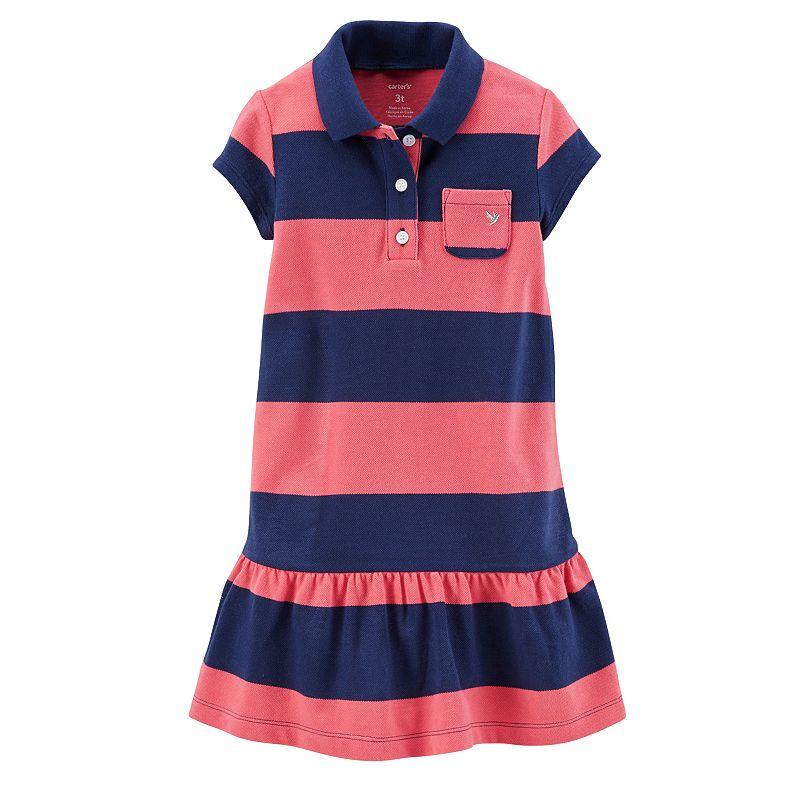 Carter's Drop-Waist Polo Dress - Toddler Girl