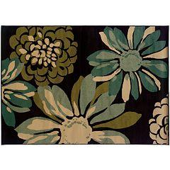 StyleHaven Elliott Teal Floral Rug