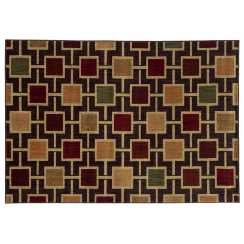 StyleHaven Ashley Geometric Squares Rug