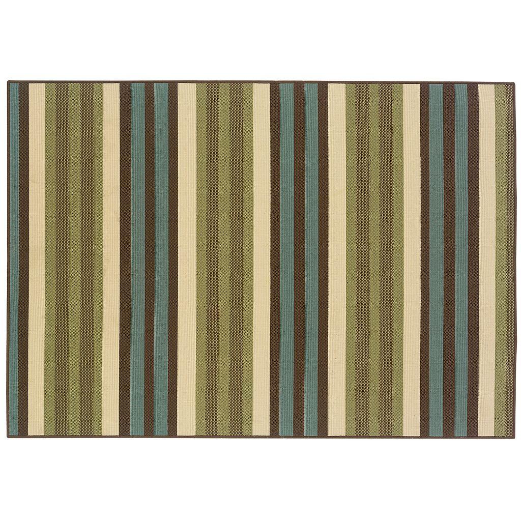 StyleHaven Montgomery Wide Stripe Indoor Outdoor Rug
