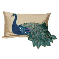 Thro by Marlo Lorenz Fancy Peacock Throw Pillow