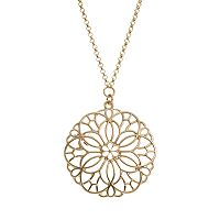 LC Lauren Conrad Openwork Flower Long Necklace