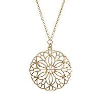 LC Lauren Conrad Openwork Flower Long Necklace