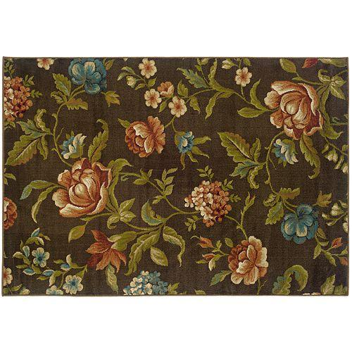 StyleHaven Elliott Brown Floral Rug