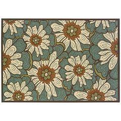 StyleHaven Montgomery Floral Blue Indoor Outdoor Rug