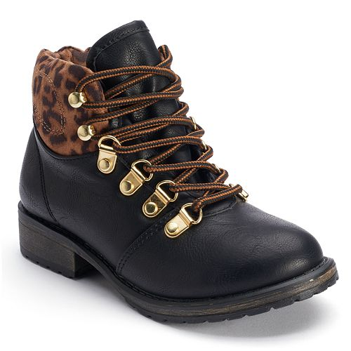Candie's® Girls' Leopard Ankle Boots