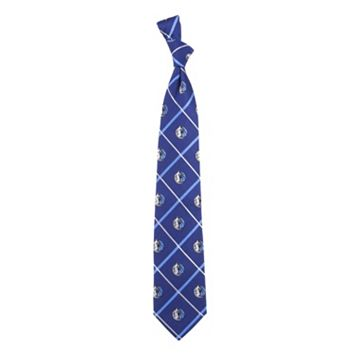 Dallas Mavericks Silver Line Silk Tie