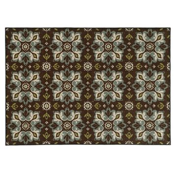 StyleHaven Ariel Brown Blue Floral Rug