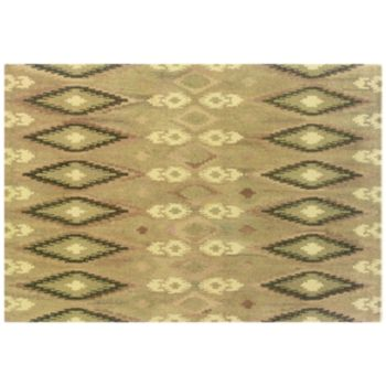 StyleHaven Anna Beige Abstract Ikat Wool Rug