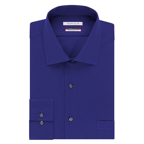 Van heusen classic fit flex spread collar dress shirt men for Van heusen shirts flex collar