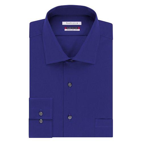 van heusen classic fit flex spread collar dress shirt men