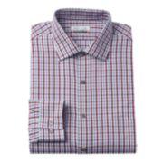 Van Heusen Classic-Fit Checked Flex Spread-Collar Dress Shirt - Men
