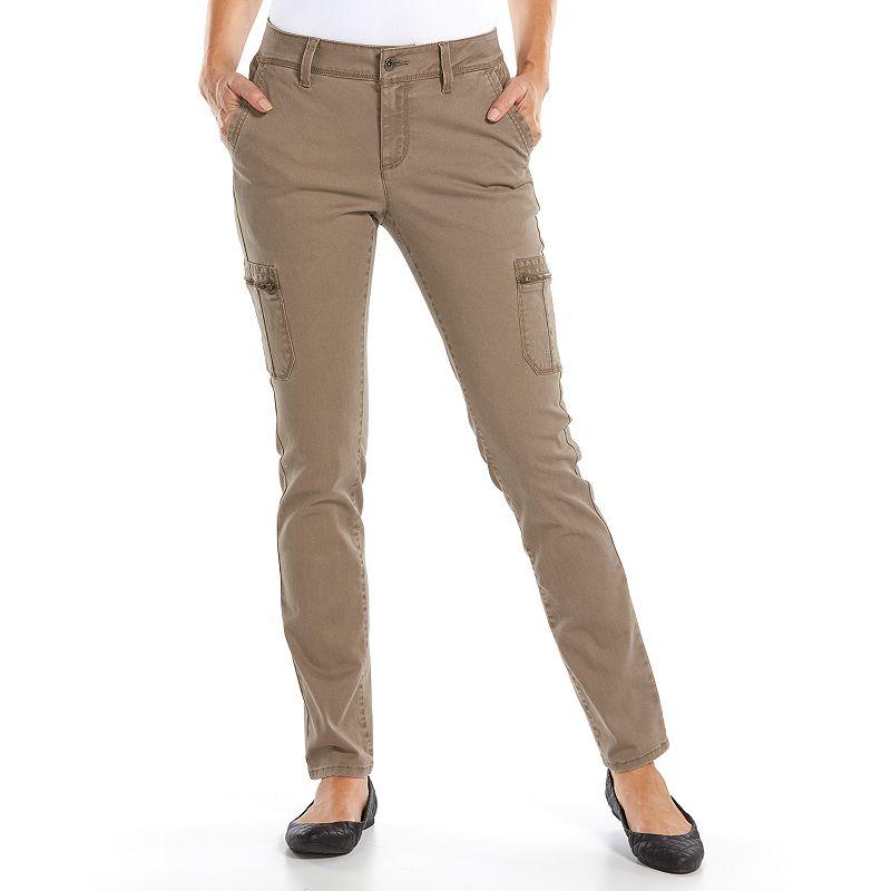 SONOMA LIFE + STYLE SLIM STRAIGHT-LEG CARGO PANTS - WOMEN ...
