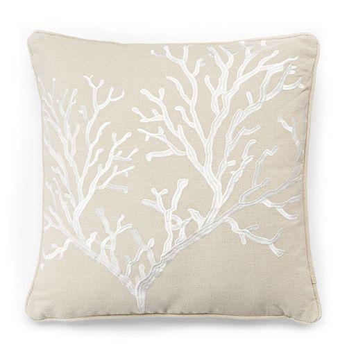 Bahamas Coral Throw Pillow