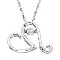 Diamond Accent Sterling Silver Heart Pendant Necklace