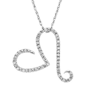 1/10 Carat T.W. Diamond Sterling Silver Heart Pendant Necklace