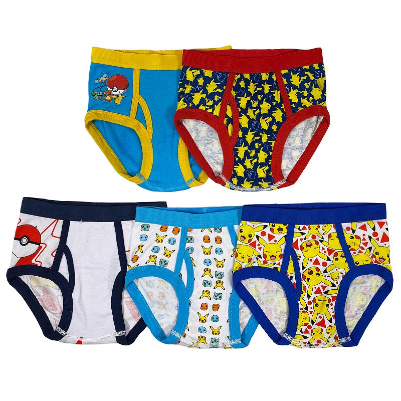 Size 4 Pack of 5 Handcraft Little Boys Power Rangers  Brief Assorted
