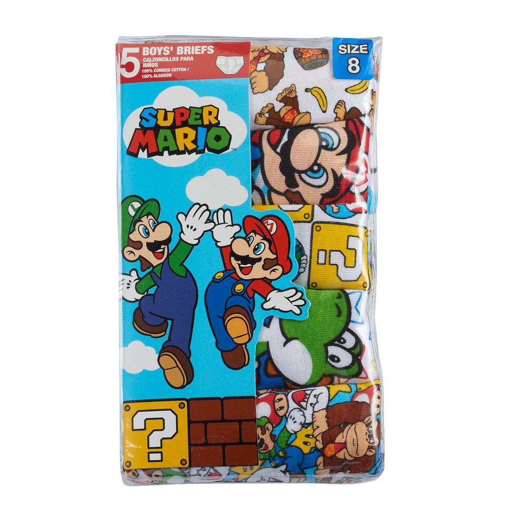 Boys 4-8 Super Mario Bros. 5-Pack Briefs