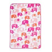 Carter's Elephant Walk Coral Fleece Blanket