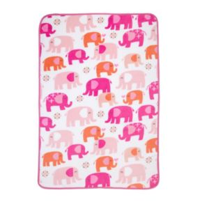 Carter's Elephant Walk Coral Fleece Blanket