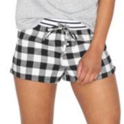 SO® Pajamas: Varsity Flannel Lounge Shorts - Juniors