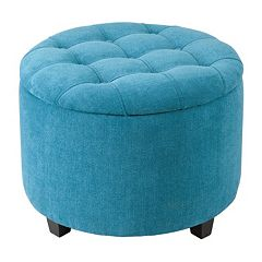 Magnificent Neutral Blue Madison Park Storage Ottomans Poufs Kohls Ncnpc Chair Design For Home Ncnpcorg
