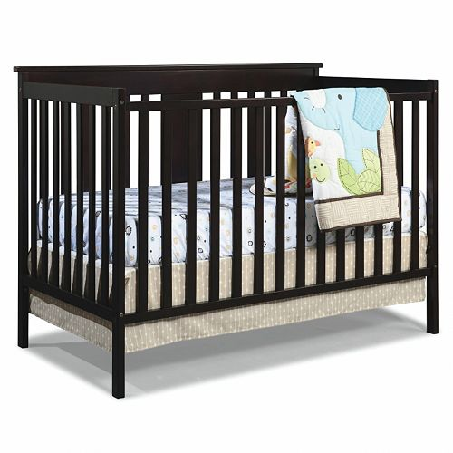 Stork Craft Mission Ridge 3 In 1 Fixed Side Convertible Crib