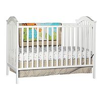 Stork Craft Hampton 2-in-1 Fixed Side Convertible Crib