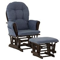 Stork Craft Hoop Custom Glider Chair & Ottoman Set