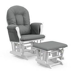 Stork Craft Hoop Custom Glider Chair Ottoman Set