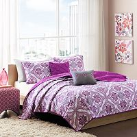 Intelligent Design Audrey Reversible Coverlet Set