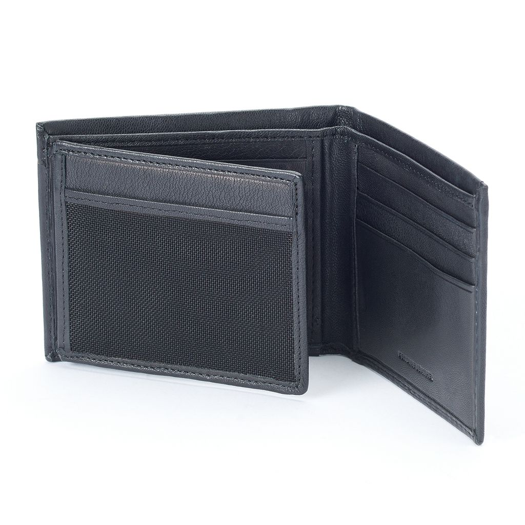 Apt. 9® Traveler RFID-Blocking Leather Bifold Wallet - Men
