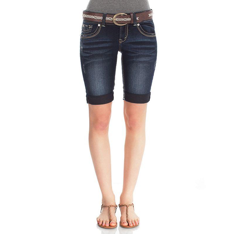 Wallflower Bermuda Jean Shorts - Juniors