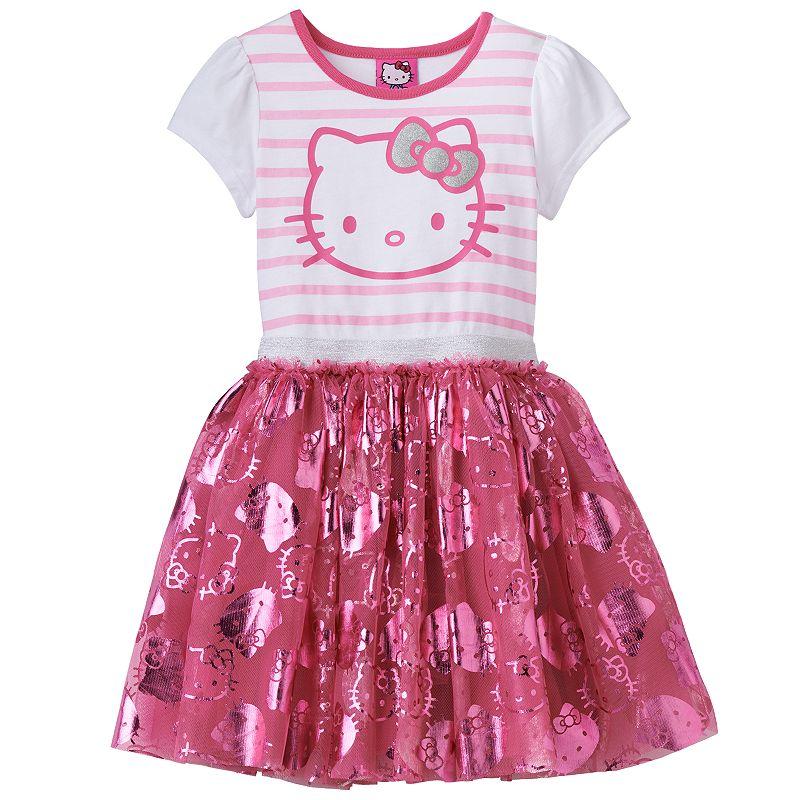 Hello Kitty® Striped Tulle Tutu Dress - Girls 4-6x
