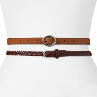 SONOMA Goods for Life™ Reversible & Braided Belt Set