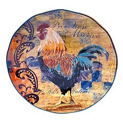 Certified International Rustic Rooster 15 in Round Serving Platter