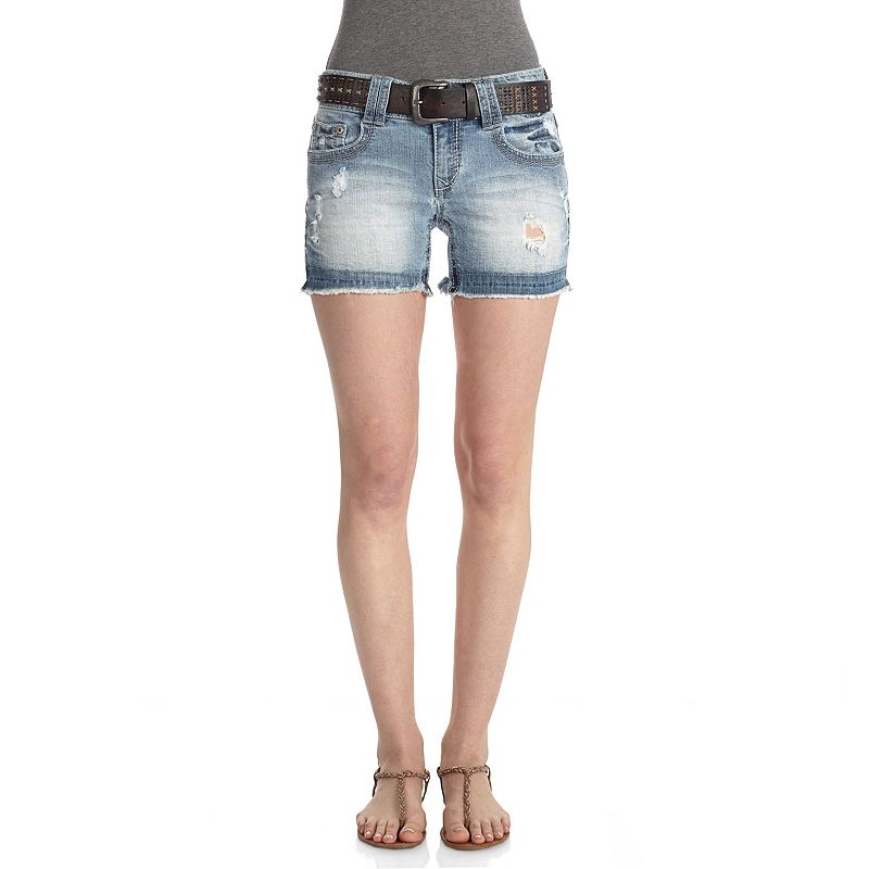Wallflower Luscious Curvy Fit Release Hem Shorts - Juniors