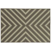 StyleHaven River Geometric Diamond Indoor Outdoor Rug
