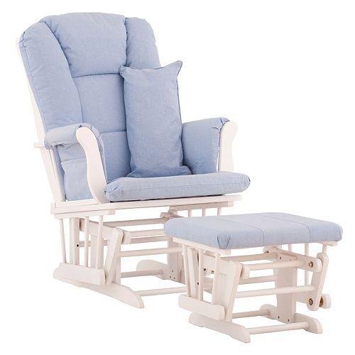 Stork craft tuscany custom glider chair and ottoman set for Stork craft tuscany glider rocking chair ottoman