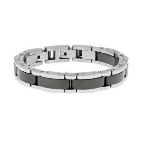 LYNX Stainless Steel & Black Ceramic Bracelet - Men