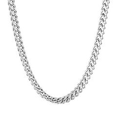 LYNX Stainless Steel Foxtail Chain Necklace - 24 in - Men